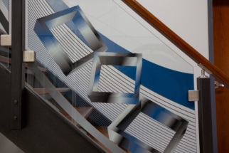Digitally Printed Glass Stair Case Dip-Tech