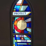 Original Stained Glass Hope and Love