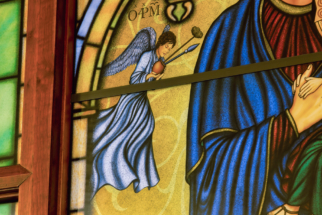 Digitally Printed Stained Glass Mary